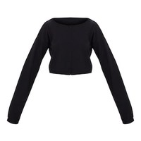Black Zip Front Sweater