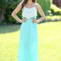Roam with Me Maxi Dress - Mint