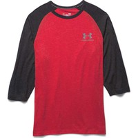Under Armour Sportstyle Three Quarter Sleeve T-Shirt for Men in Red 1269757-600