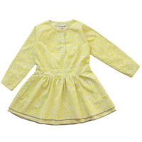 Arsene et Les Pipelettes Girls Yellow Floral Print Dress - E14FR08 - only sz 3 left - FINAL SALE