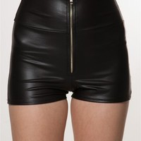 Faux Leather Mini Shorts at Lucky 21 Lucky 21