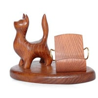 """Wooden Stand """"CAT"""". IPhone 6/5/4S/4/3GS Wood Table Stand. Handcrafted Natural Ash-Tree"""