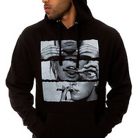 Freshjive Sweatshirt Blunt Rolled Hooded in Black