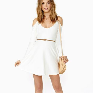 Strapless long-sleeved dress Slim