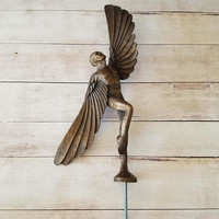 Icarus Statue/ Icarus/ Brass Icarus Statue/ Vintage Icarus/ Greek Mythology/ Bronze Statue/ Mythological Art/ Gift for art lover