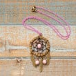 Dreamcatcher Pendant Necklace. Pink Chain Dreamcatcher Necklace