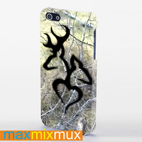 Black Love Browning Deer Camo iPhone 4/4S, 5/5S, 5C Series Full Wrap Case