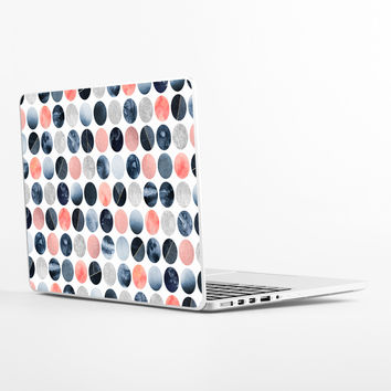 Blue and Pink Dots Laptop Skin