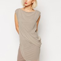 Religion Dress With Draped Front