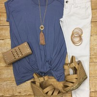 Knotted Top: Blue