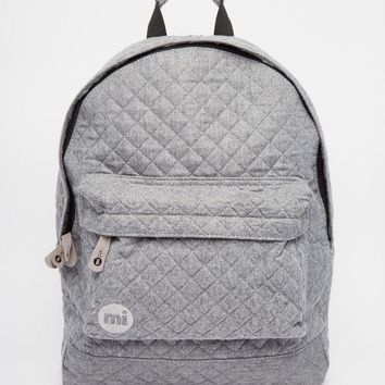 Mi-Pac | Mi-Pac Quilted Backpack in Gray at ASOS