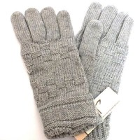 Women's Quality Wool Gray Gloves Warm Winter Ski NEW