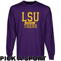 LSU Tigers Custom Sport Long Sleeve T-shirt - Purple