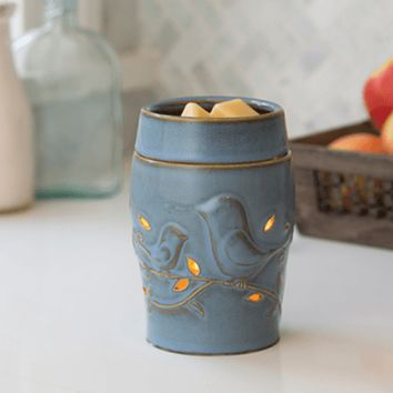 Blue Bird Candle Warmer Electric Illumination or Plug In