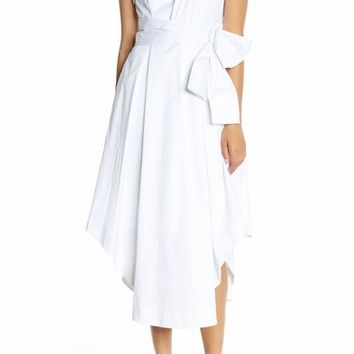 KENDALL + KYLIE One-Shoulder Midi Dress | Nordstrom