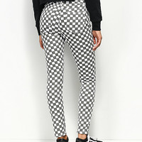 Dickies White & Black Checkered High Rise Skinny Jeans | Zumiez