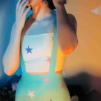 Latex Rubber Star Applique hotpants