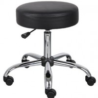 Boss Caressoft Medical Stool, black