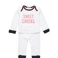 Kate Spade Layette Sweet Cheeks Loungewear Set Rich Navy/ Fresh White