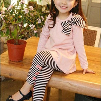 children clothing sets spring and autumn girls