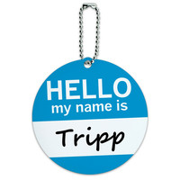 Tripp Hello My Name Is Round ID Card Luggage Tag
