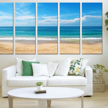 Beach Wall Art  - Sea and Beach  Wall Art Canvas Print, Seascape Canvas Print, Tropical Beach Canvas Print