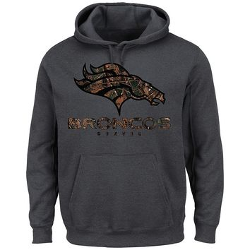 Majestic Denver Broncos Camo Logo II Fleece Hoodie - Men