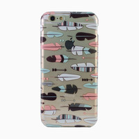 Clear Horizontal Feathers iPhone 6 Case