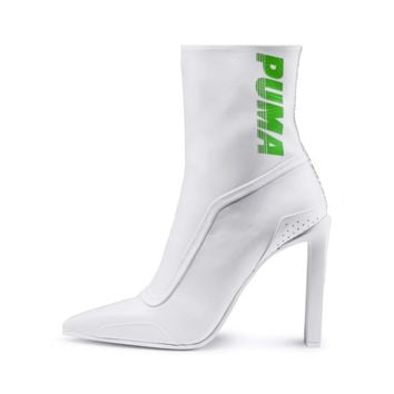 FENTY Women's Ankle Boot Heels | Puma White-Green Gecko-White | PUMA Fenty Collection | PUMA United States