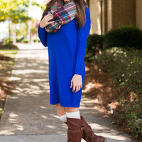 This Is It Sweater Dress, Blue
