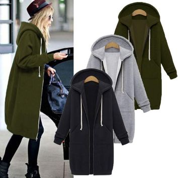 Womens Hooded Long Jackets