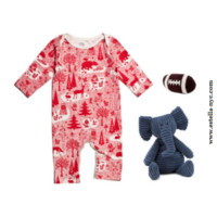 Winter Water Factory Winter Forest Romper Baby Boy Gift Set