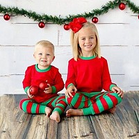 Christmas Baby Boys Girls Kids Nightwear Pajamas Pjs Sets Sleepwear Outfits Children Xmas Clothes 1-6Y