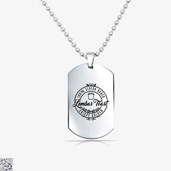Elven Lembas Toast, Lord Of The Rings Tag Necklace