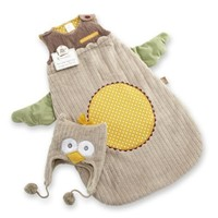 Baby Aspen My Little Night Owl Snuggle Sack and Cap, 0-6 Months