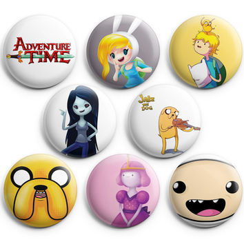 Adventure Time Pinback Buttons Badge #1 (Set of 8) 1.25 inches Finn & Jake,New