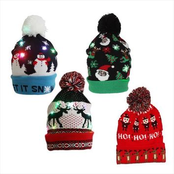 Lighted LED Holiday Stocking Cap