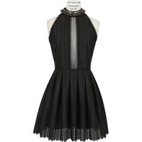 Paco Rabanne black embroidered dress