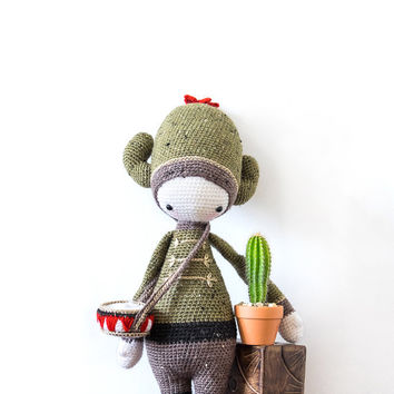 Carl the Cactus inspired by Lalylala / Crochet Doll / Handmade Amigurumi / Amigurumi animal