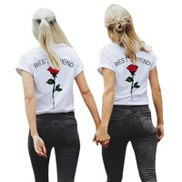 Best Friend T-Shirts - Women's Crew Neck Top Tees