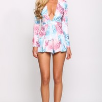 HelloMolly | Just Peachy Playsuit Blue - Dresses