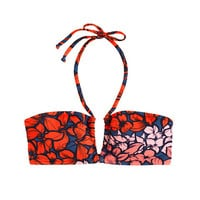 J.Crew Womens Tropical Floral Ruched Halter Bandeau Top