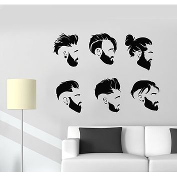 Vinyl Wall Decal Men's Haircuts Boy Style Barbershop Stickers Mural (g1803)