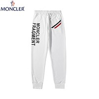 Moncler 2019 new fashion trend wild breathable stretch casual pants white