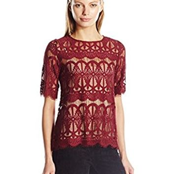BCBGeneration Women's Lace Tunic Top