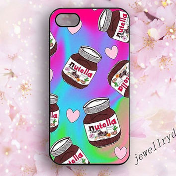 Nutella hazelnut spread iphone case,Nutella iphone 5/5s case,chocolate Samsung Galaxy  S4 S5,heart iphone 5c case,colorful iphone 4/4s case