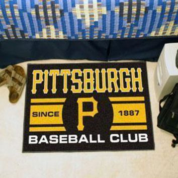"MLB -  Pittsburgh Pirates Baseball Club Starter Rug 19""x30"""