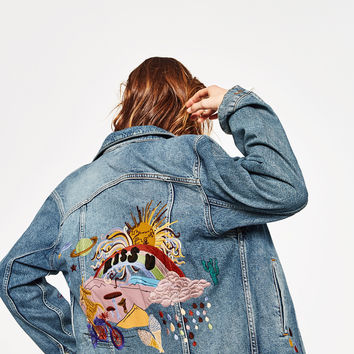 MISS SUNSHINE DENIM JACKET - NEW IN-WOMAN | ZARA United Kingdom