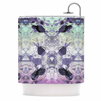 "Danii Pollehn ""Geometrical Jumper"" Purple Geometric Shower Curtain"