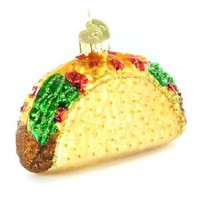 Taco Glass Blown Holiday Ornament